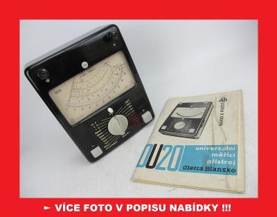 DU 20 - starý měřící přístroj měřák / METRA BLANSKO Avomet