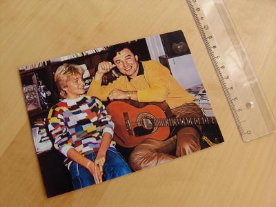 zpěváci Karel Gott a Darinka Rolincová (Dara Rolins) - fotografie