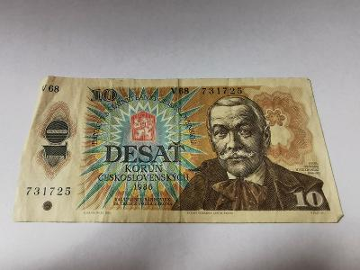 československo 10 korun 1986
