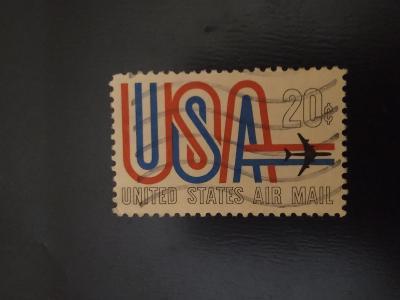 USA, letadlo, letecká pošta 20c