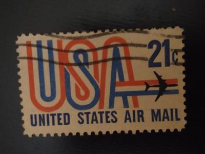 USA, letadlo, letecká pošta 21c