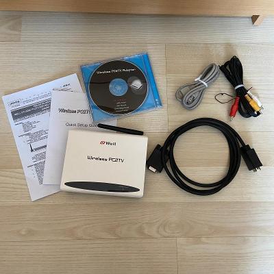 WELL PTI-5020 PC2TV WiFi 802.11b/g, VGA 720p HD adapter