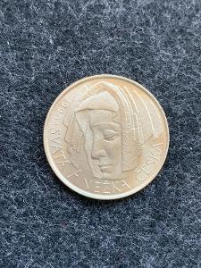 🌶 Stříbrná MINCE 50 Kčs SVATÁ ANEŽKA ČESKÁ- 1990