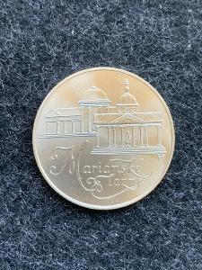 🌶 Stříbrná MINCE 50 KČS MARIÁNSKÉ LÁZNĚ 1991 - PERFEKTNÍ STAV