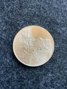 🌶 Stříbrná MINCE 50 Kčs Karlovy Vary - 1991 - Perfektní Stav