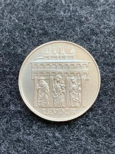 🌶 Stříbrná MINCE - 50 KČS - MĚSTO LEVOČA - 1986