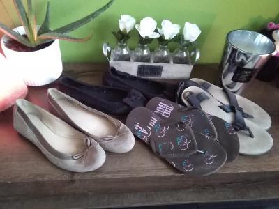 4 páry dámských botů velikost 38