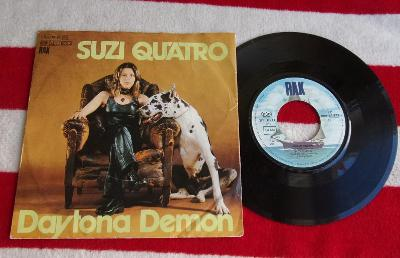 💥SP: SUZI QUATRO - DAYTONA DEMON / ROMAN FINGERS, jako nová NM 1press