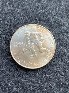 🌶  Stříbrná mince 100 Kčs Mistrovství světa v ledním hokeji 1985