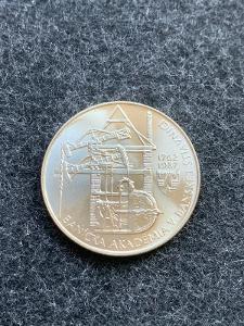 🌶  Stříbrná mince 100 Kčs Akademie Banská Štiavnica 1987