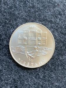 🌶 Stříbrná mince 50 Kčs Piešťany 1991