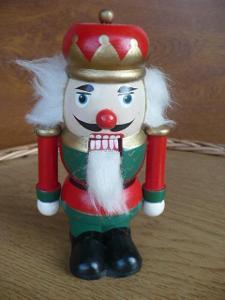 Louskáček na ořechy - dřevěný voják cca 15 cm, hračka, dekorace