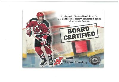 Peter Stastny - New Jersey Devils - board