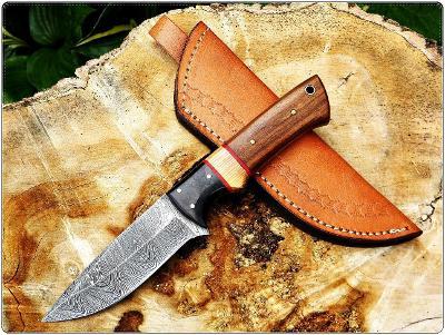 81/ Damaškový lovecky nůž. Rucni vyroba.