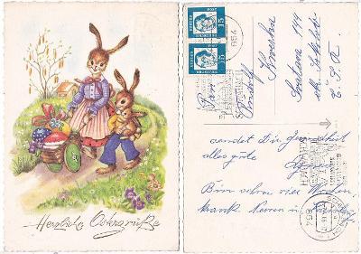 Německo - velikonoční pohlednice