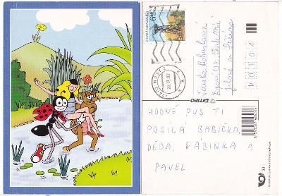 Dětská kreslená pohlednice - Ferda mravenec