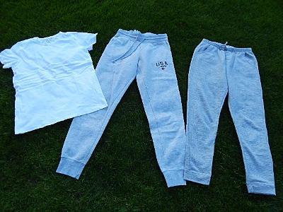 Kalhoty PRIMARK, PEPCO + bílé tričko, vel. 158 - 164/XS