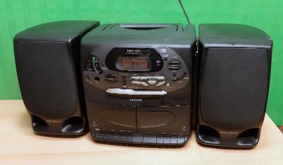 Přenosný radiomagnetofon s CD - Philips AZ2808