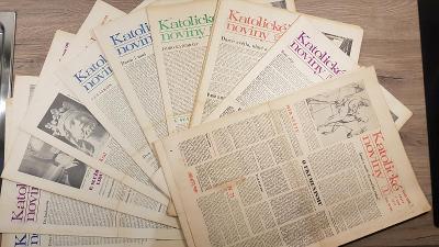 Katolické noviny rok 1971 52 čísel