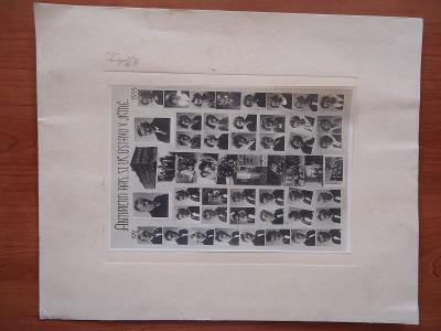 Jičín-Tablo  abiturientů Rais.st.uč.ústavu  1931-1933 - foto Podlipný