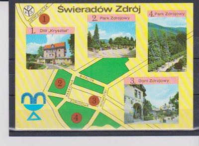 Výpredaj - POĽSKO - Swieradow Zdroj - Použitá so známkou   !!!