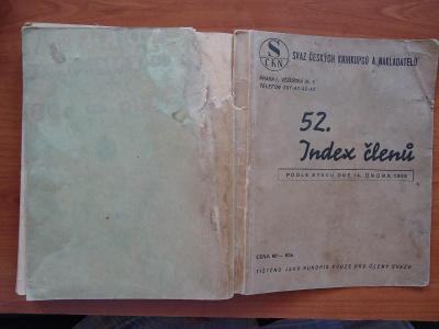 Index členů Svazu českých knihkupců a nakladatelů k 14.únoru 1948