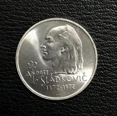 Stříbrná mince 20 Kčs Andrej Sládkovič 1972, perfektní stav!