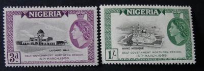 britská Nigéria 1959 ** Alžbeta II komplet mi. 86-87