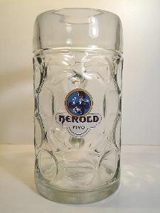 Pivní sklenice pivovar Herold 01 E 1L