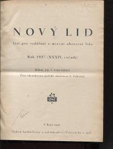 Nový lid, ročník XXXIV./1937. List pro vzdělání a mra