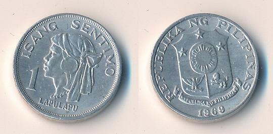 Filipíny 1 sentimo 1969