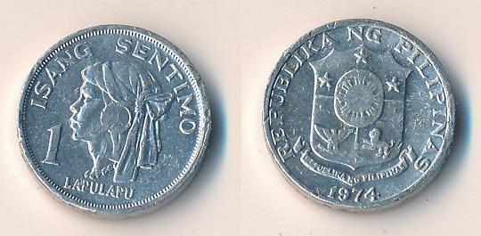 Filipíny 1 sentimo 1974
