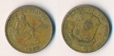 Filipíny 5 centavos 1963
