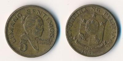 Filipíny 5 sentimos 1968