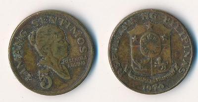 Filipíny 5 sentimos 1970