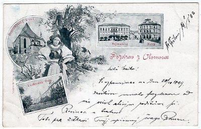 OLOMOUC DA DOPISNICE ROK 1900 VYD. J. SLOVÁK KROMĚŘÍŽ
