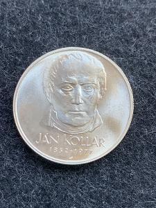 🌶 Stříbrná mince 50 Kčs Jan Kollár 125. výročí 1977