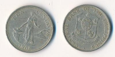 Filipíny 10 centavos 1966