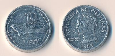 Filipíny 10 sentimos 1983