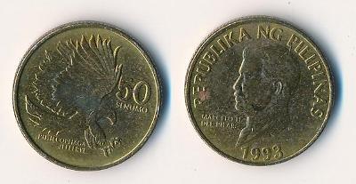 Filipíny 50 sentimos 1993