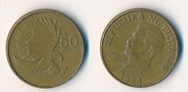 Filipíny 50 sentimos 1994