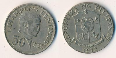 Filipíny 50 sentimos 1972
