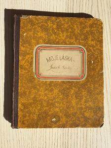 132let  starý deník (1889), česky psaný, perfektní stav