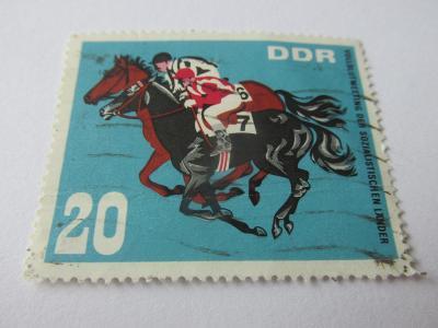 Prodávám známky DDR 1967, Jezdectví na koni, Dostihy