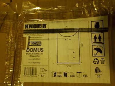 Koupelnová skříňka s umyvadlem od firmy DOMUS rozměr 50 cm