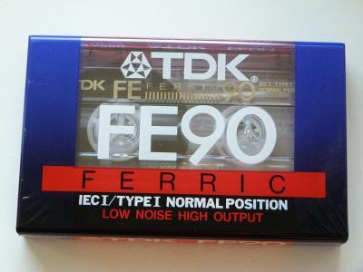 kazeta TDK FE 90, typ I