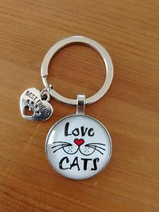 Kočičí klíčenka - motiv 2