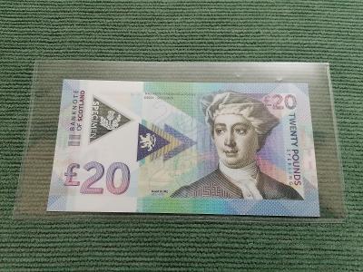 20 pounds David Hume, S 00101, polymer, stav UNC