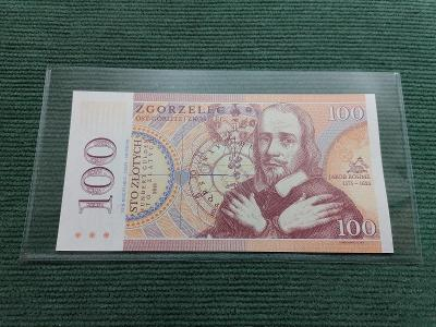 100 zlotych Jakob Böhme, PL 0000805, Polsko, stav UNC