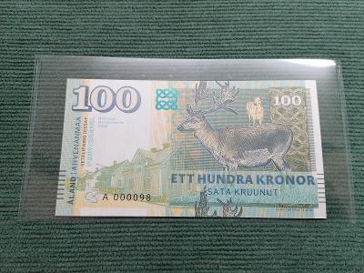 100 Kronor 2018 Aland Islands, A 000098, stav UNC